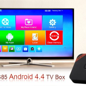 android TV box and a TV