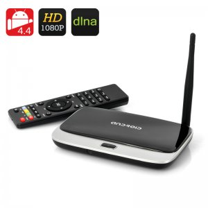 Android 4.4 TV Box with a remote control