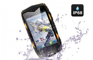 smartphone with a water