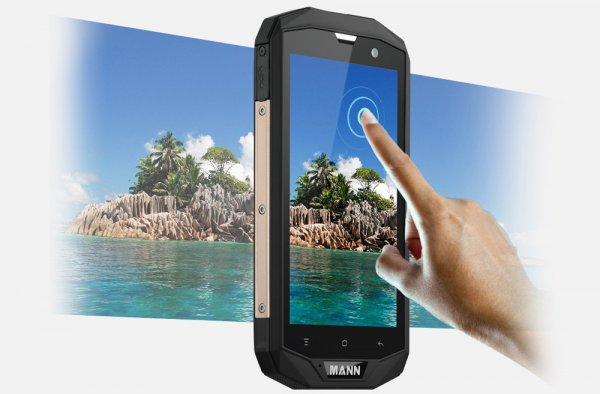 hand pointing at smartphone