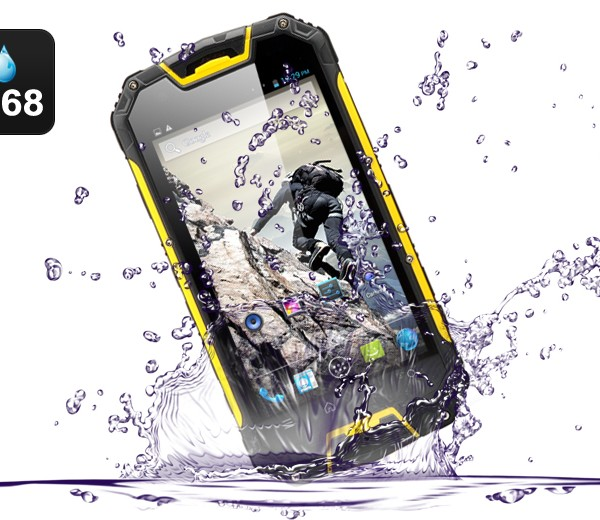 smartphone on a water