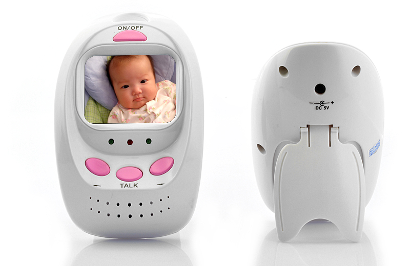 wireless digital baby monitor camera 8 led lights 5 meter night vision r. Black Bedroom Furniture Sets. Home Design Ideas