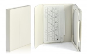 White iPad 23 case with spill proof
