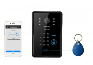 wi-fi video door phone-app remote and unlock key