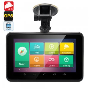 7 Inch Android 4.4 GPS with Dash Cam