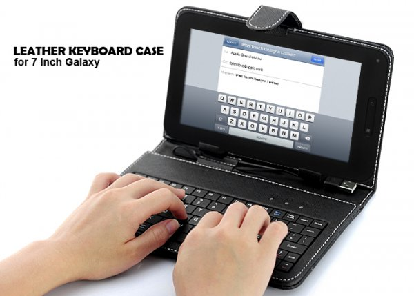 7 Inch Android Tablet PC Leather Keyboard Case
