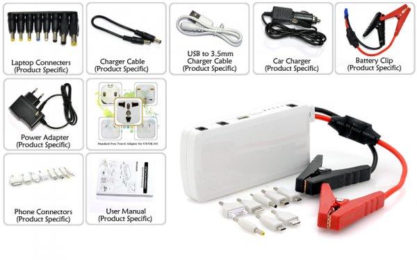 Multi Function Emergency Car Jump Starter Kit with Car Power Bank