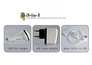 iPhone 3 piece charger kit