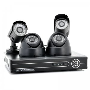 Complete CCTV Security System with 2x Indoor + 2x Outdoor Cameras