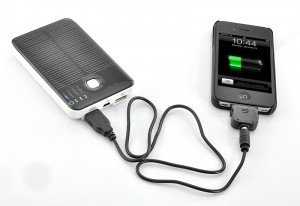 5000mAh Solar Charger and Battery with Dual Charging Ports for iPod, iPhone, iPad, Samsung, HTC, Sony Ericsson