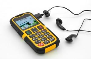 Senior citizen phone and headphones