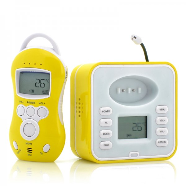 Wireless Baby Monitor with Two Way Audio, Temperature Sensor