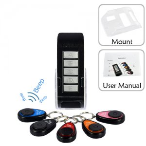 Wireless Key Finder Set with 1 Transmitter and 5 Receiver