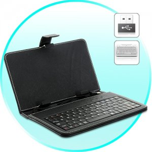 Leather Keyboard Case for 7 Inch Android Tablet