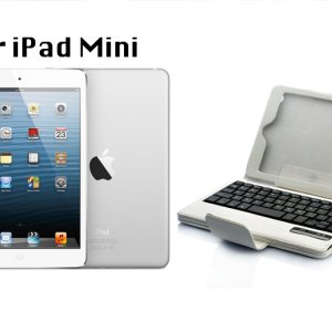 iPad Mini Bluetooth Keyboard + Case with Detachable Keyboard
