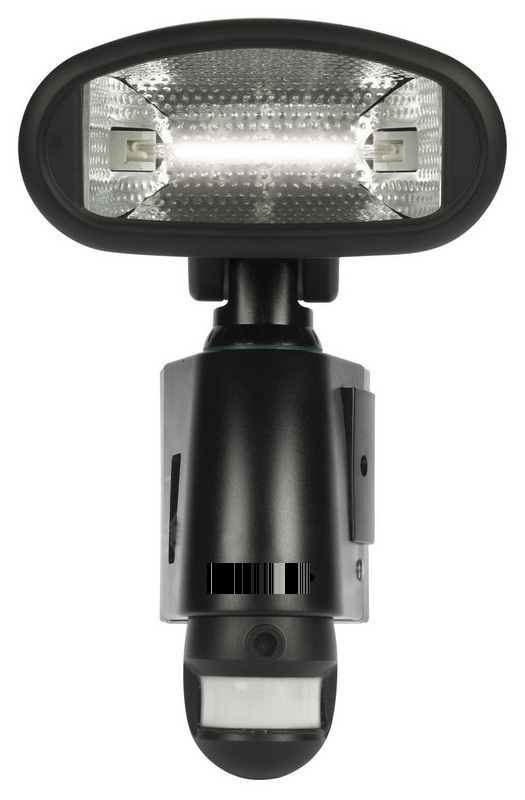 Security Floodlight Camera With SD Recording