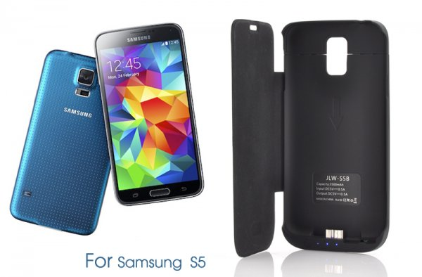 super popular 53e80 42b44 Samsung Galaxy S5 External Battery Case with LED Display & 3500mAh ...