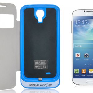 Samsung Galaxy S4 4200 mAh External Battery Case with Flip Cover