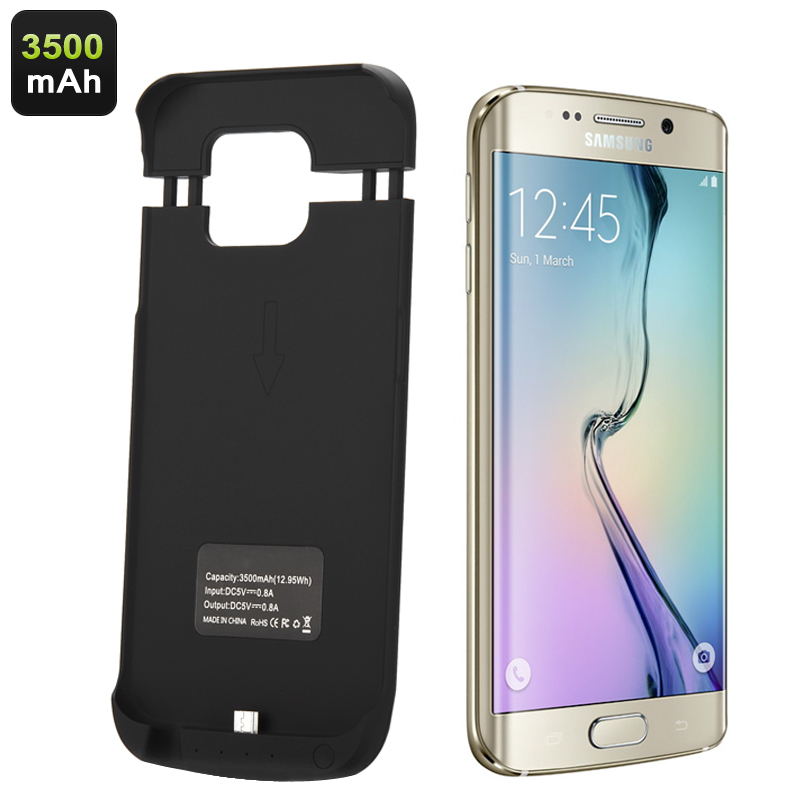 huge discount d86e3 30374 Samsung Galaxy S6 Edge External Battery Case - 3500mAh with Rear Flip Stand