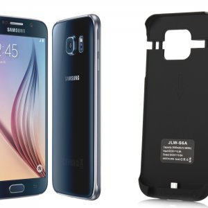 Samsung Galaxy S6 External Case with 3500mAh battery (Black)