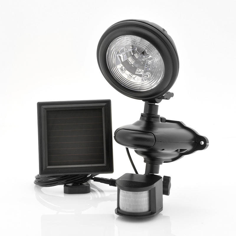 solar powered led security light weatherprof with pir. Black Bedroom Furniture Sets. Home Design Ideas