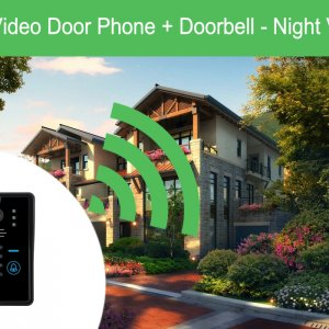 wi-fi video door phone,doorbell,night vision