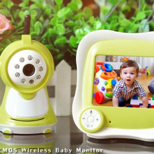 Wireless Baby Monitor - 380TVL 3.5 Inch LCD Screen, 2 Way Audio, Temperature Readings, Music Player