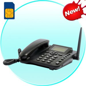 Wireless GSM Desk Phone – Quadband, SMS function