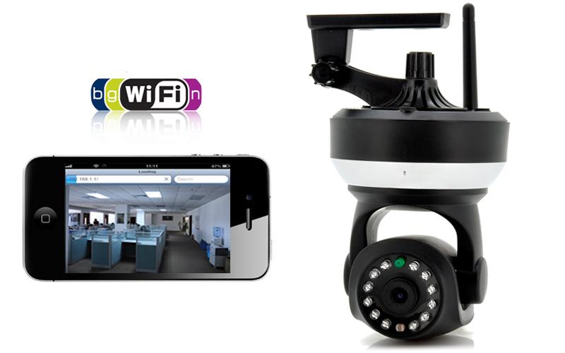 Wireless Wi-Fi IP Camera 720p, PanTilt, SD Card Recording, Double IR Cut &  Two Way Audio