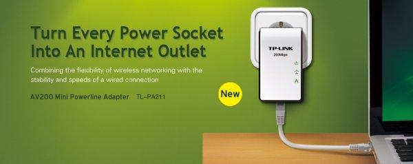 Tp-Link Powerline Home Plugs 200 Mbs