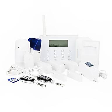 GSM Smart Home Alarm System With 15 Wireless Zones And Icon LCD