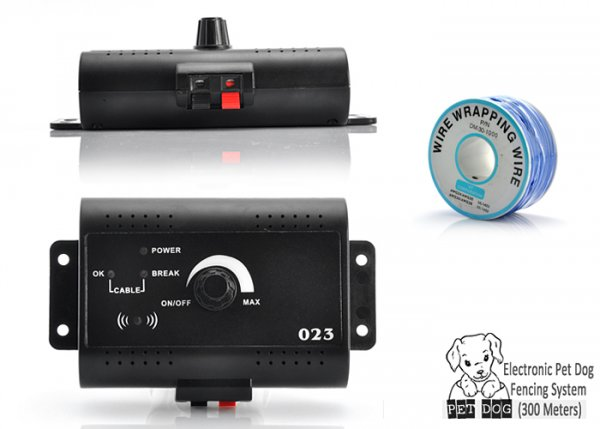 Electronic pet dog fencing system-side and front look