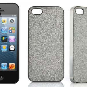 iPhone 5 silver case – Silver Glitter