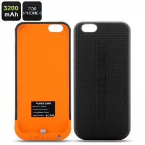 iPhone 6 Protective Case & extra Battery 3200mAh Power Bank
