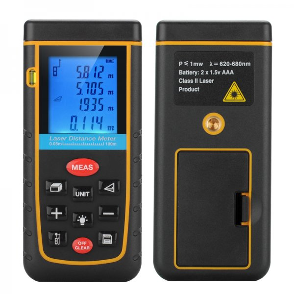Digital Laser Tape Measure – 0.05 To 100 Meter Range
