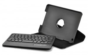 iPad Mini Case with Detachable Bluetooth Keyboard & 360 Rotating