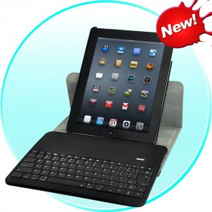 Protective Case for iPad 2 and 3 with 360 Degree Rotation And Bluetooth Keyboard