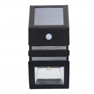 black outdoor power solar led panel