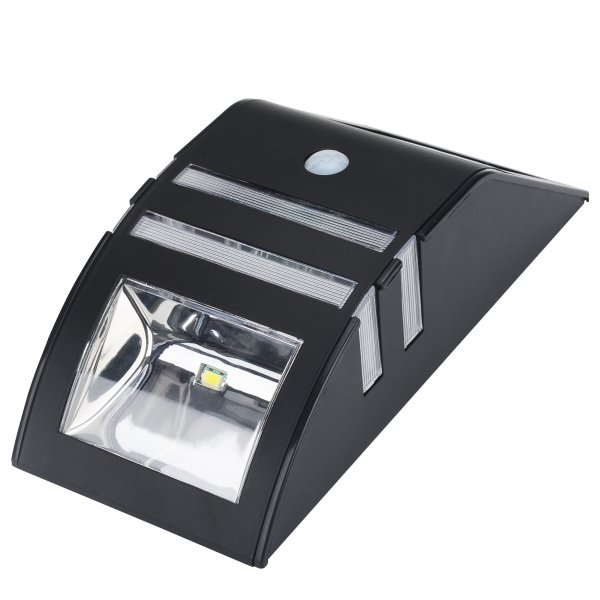 black outdoor power solar led panel