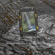 black cell-phone in the water