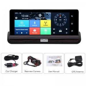 android car DVR system with attachments