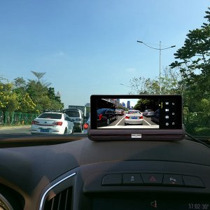 android car DVR system attached to car enterior