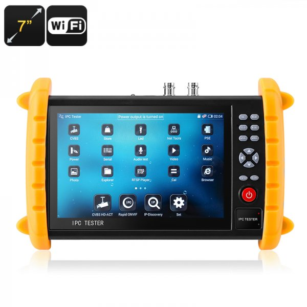 surveillance camera tester with display