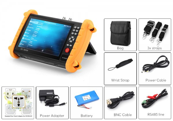 surveillance camera tester with additions