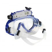 blue camera goggles back view