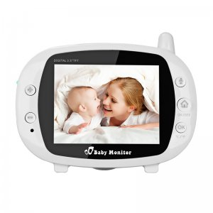 baby and mother on a baby monitor display