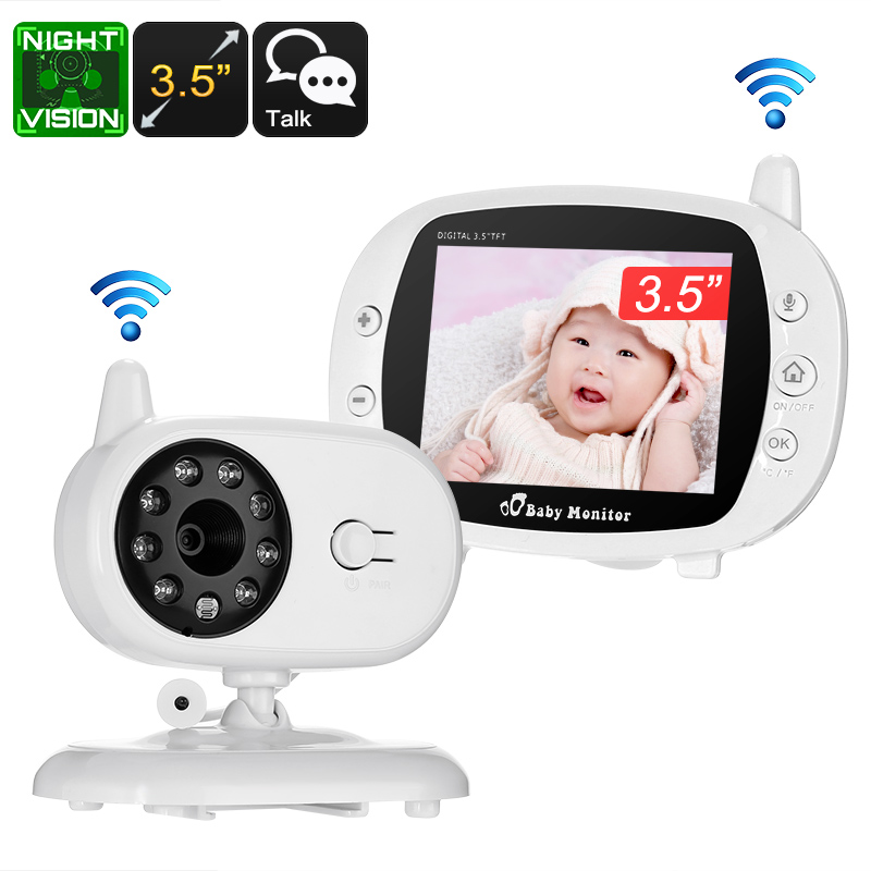 Wireless Baby Monitor 3 5 Inch Display Temperature