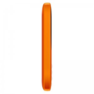 side picture of an orange cell-phone
