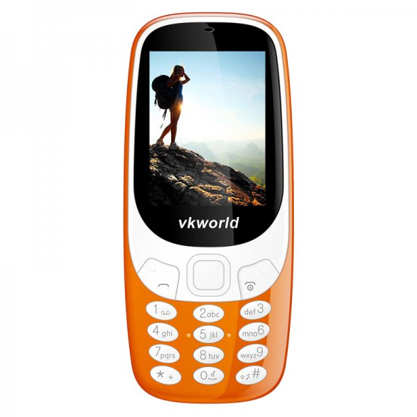 picture of a girl on an orange cell phone display