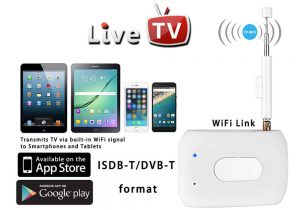 mobiles and tablets with antenna on DTV box